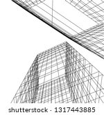 architectural drawing 3d | Shutterstock .eps vector #1317443885