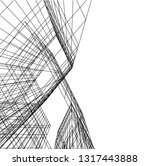 architectural drawing 3d | Shutterstock .eps vector #1317443888