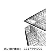 architectural drawing 3d | Shutterstock .eps vector #1317444002