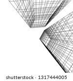 architectural drawing 3d | Shutterstock .eps vector #1317444005