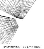 architectural drawing 3d | Shutterstock .eps vector #1317444008