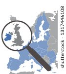 map of european union without... | Shutterstock .eps vector #1317446108