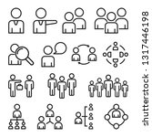 simple set of business people.... | Shutterstock .eps vector #1317446198