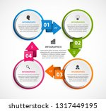 circle infographics template.... | Shutterstock .eps vector #1317449195