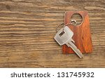 silver key with blank tag | Shutterstock . vector #131745932