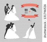 bride and groom | Shutterstock . vector #131746526