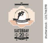 wedding invitation | Shutterstock . vector #131746598