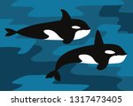 illustration of the orcinus orca | Shutterstock .eps vector #1317473405