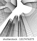 architectural drawing 3d | Shutterstock .eps vector #1317476375