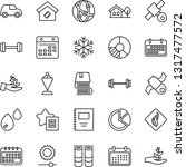 thin line icon set   book...
