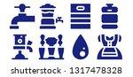 keg icon set. 8 filled keg... | Shutterstock .eps vector #1317478328