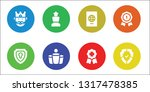 insignia icon set. 8 filled... | Shutterstock .eps vector #1317478385