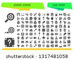 icons icon set. 120 filled... | Shutterstock .eps vector #1317481058