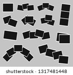 photo frames set isolated on... | Shutterstock . vector #1317481448