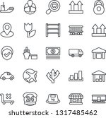 thin line icon set   route... | Shutterstock .eps vector #1317485462