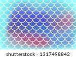 gradient blue mermaid scales.... | Shutterstock .eps vector #1317498842