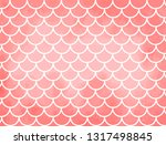coral mermaid scales. fish... | Shutterstock .eps vector #1317498845