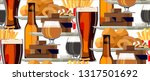 pub food and beer seamless... | Shutterstock .eps vector #1317501692