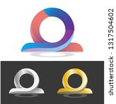 letter o logo design. vector... | Shutterstock .eps vector #1317504602