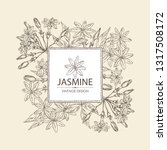 background with jasmine  flower ... | Shutterstock .eps vector #1317508172
