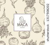 background with maca peruvian.... | Shutterstock .eps vector #1317508202