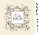 background with sesame  sesame... | Shutterstock .eps vector #1317508235