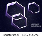 metal polygons sparkle on the... | Shutterstock .eps vector #1317516992