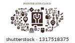pointer icon set. 93 filled... | Shutterstock .eps vector #1317518375