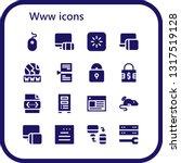 www icon set. 16 filled www... | Shutterstock .eps vector #1317519128