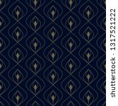 Navy Blue Background Ditzy...