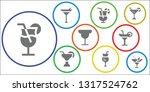 margarita icon set. 9 filled... | Shutterstock .eps vector #1317524762