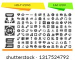 help icon set. 120 filled help... | Shutterstock .eps vector #1317524792