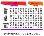 vitamin icon set. 120 filled... | Shutterstock .eps vector #1317526418