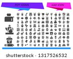 pot icon set. 120 filled pot... | Shutterstock .eps vector #1317526532