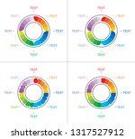 infographic wheel designs.... | Shutterstock .eps vector #1317527912