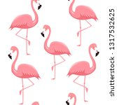 seamless pattern with pink... | Shutterstock .eps vector #1317532625