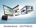 web design concept | Shutterstock . vector #131753615