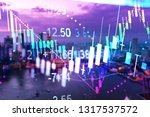 stock market graph chart. the... | Shutterstock . vector #1317537572