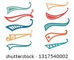 texting tails. colored swoosh... | Shutterstock .eps vector #1317540002