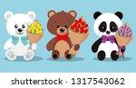 set of isolated cute elegant... | Shutterstock .eps vector #1317543062