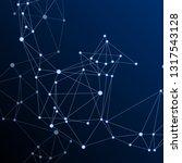 block chain global network...   Shutterstock .eps vector #1317543128