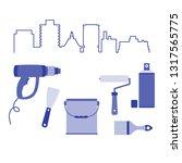 vector illustration with... | Shutterstock .eps vector #1317565775