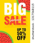 watermelon super summer sale... | Shutterstock .eps vector #1317568115