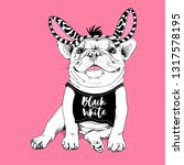 cute french bulldog in a... | Shutterstock .eps vector #1317578195