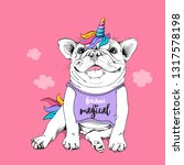 cute french bulldog in a... | Shutterstock .eps vector #1317578198