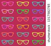 set of eyeglasses with...   Shutterstock .eps vector #1317582785