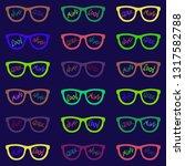 set of eyeglasses with...   Shutterstock .eps vector #1317582788