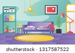 detailed living room with a... | Shutterstock .eps vector #1317587522