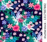 beautiful  flower seamless... | Shutterstock .eps vector #1317587882