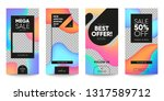 set of sale banner for social... | Shutterstock .eps vector #1317589712